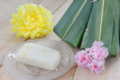 Thai dessert with flowers Stock Photo