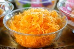 Thai dessert, Foythong Cake or Gold Egg Yolks Royalty Free Stock Photos