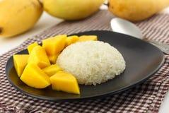 Thai dessert - Fresh Mango with sticky rice Stock Image