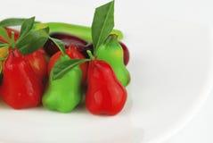Thai dessert fruit-imitated soybean Royalty Free Stock Image