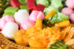 Thai dessert golden sweetmeat Stock Image