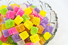 Thai dessert jelly candy Royalty Free Stock Photos
