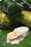 Thai dessert [ Kaao dtom mat 2] Stock Photography