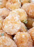 Fried dough Stuffed with mill  green bean and coat. Ed with sugar,Thai dessert,  Khai Hong Royalty Free Stock Image