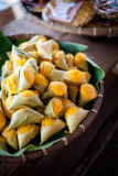 Thai dessert Khanom tan stock photography