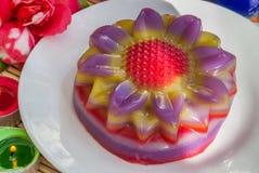 Thai dessert Layer Sweet Cake or Kanom Chan. Kind of Thai sweetmeat or Thai dessert, Multi Layer Sweet Cake or Layer Sweet Cake Kanom Chan stock images