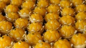 Thai dessert made from egg yolk Stock Images