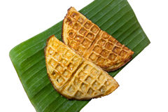 Thai dessert made with rice flour mixed with sugar and jaggery a Royalty Free Stock Image