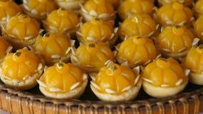 Thai dessert made from yolk egg Royalty Free Stock Images