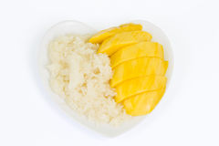 Thai dessert, Mango with sticky rice, clipping path included Royalty Free Stock Photos