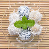 Thai dessert with mint Stock Photos