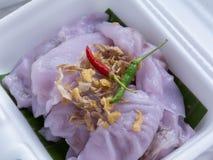 Thai Dessert. Name Ka Nhum Mo Kang Sweet Steam Royalty Free Stock Photography