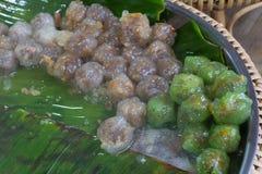 Kanom sago; Thai dessert ; powdery starch from certain sago palm. Thai dessert ; powdery starch from certain sago palm Stock Images