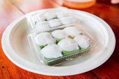Thai dessert Pudding with coconut topping,Tako Stock Image
