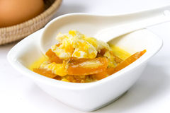 Thai dessert,pumpkin in coconut milk Royalty Free Stock Photos