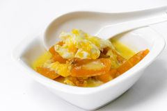 Thai dessert,pumpkin in coconut milk Royalty Free Stock Photography