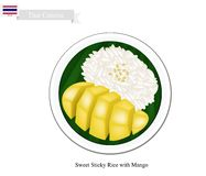 Thai Dessert, Ripe Mango with Sticky Rice Royalty Free Stock Image