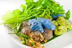Thai dessert sago pork Stock Image