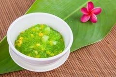 Thai dessert (sagu) Stock Photo