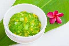 Thai dessert (sagu) Royalty Free Stock Photography