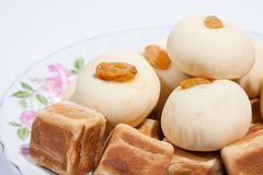 Thai dessert and snack Moji dice Royalty Free Stock Photography