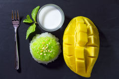 Thai Dessert - Sticky Rice with Mango Stock Images
