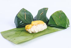 Thai dessert. Sticky rice whit jackfruit and thai dessert Stock Image