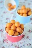 Thai Dessert, Sweet Potato Balls, Fried Potato Ball on Colorful Stock Photos