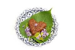 Thai dessert ,sweet red sticky rice Royalty Free Stock Photos