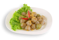 Thai Dessert (Sweet Steam Thai Dessert). Isolate on white background Stock Image