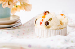 Thai dessert, Thai steamed cup cake or cotton wool cake. Royalty Free Stock Photography