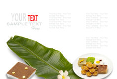 Thai dessert or thai sweets Royalty Free Stock Images