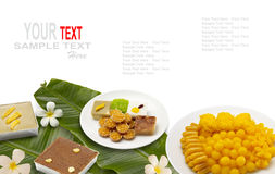 Thai dessert or thai sweets Royalty Free Stock Image
