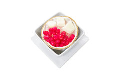 Thai Dessert Truffle in Syrup and Coconut Milk served wi Stock Images