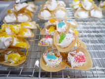 Thai desserts. At the market Royalty Free Stock Photography