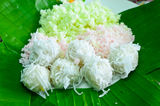 Thai desserts. For you to eat and sell royalty free stock images