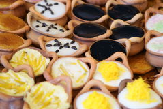 Thai desserts. Thai style dessert in the food market, Thailand Royalty Free Stock Images