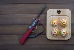 Thai desserts and antique toys royalty free stock images