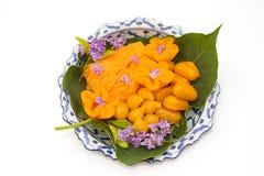 Thai desserts in lai thai dish Stock Photo