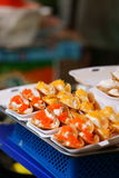 Thai desserts on sale at Wat Saket compound. Royalty Free Stock Images