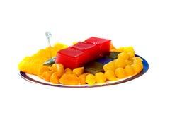 Thai desserts, sweet variety Royalty Free Stock Image