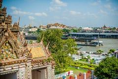 thai detaljtempel Arkivbilder