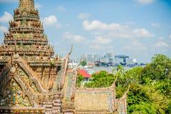 thai detaljtempel Royaltyfri Foto
