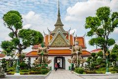 thai detaljtempel Royaltyfria Bilder