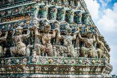thai detaljtempel Fotografering för Bildbyråer