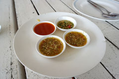 Thai dipping sauce in small bowl Royalty Free Stock Photography