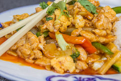Thai dish with chicken, lemongrass and coconut milk Stock Image