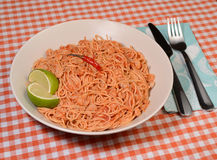 Rice noodles and shrimp Royalty Free Stock Photography