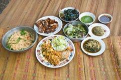 Thai Dishes course eaten Royalty Free Stock Photo