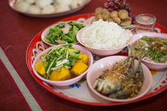 Thai dishes course eaten with rice Stock Image